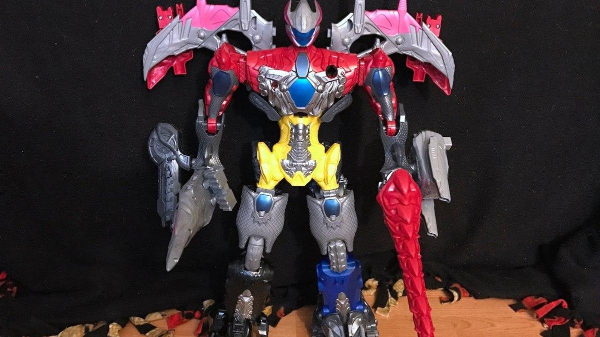 Power Rangers O Filme Megazord Gigante Colossal 70cm - 5 Zords+ 5 Rangers - Sunny  - Doce Diversão