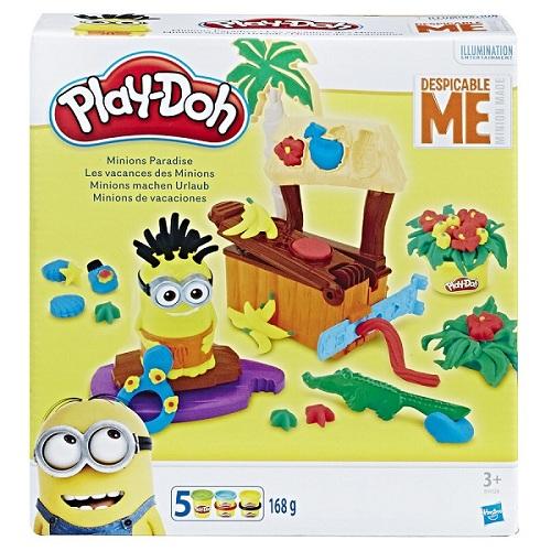 Massinha Play Doh Play Set Férias Paraiso dos Minions  - Hasbro  - Doce Diversão