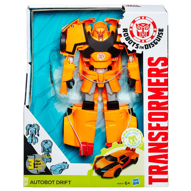 Transformers Drift laranja Indisguise Heroes 3 passos - Hasbro  - Doce Diversão