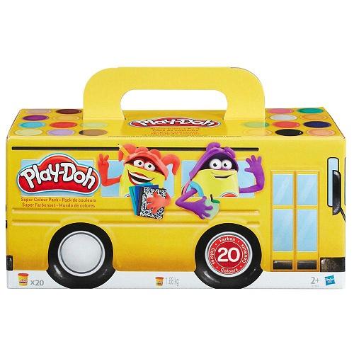 Massinha Play Doh Kit com 20 potes - Hasbro  - Doce Diversão