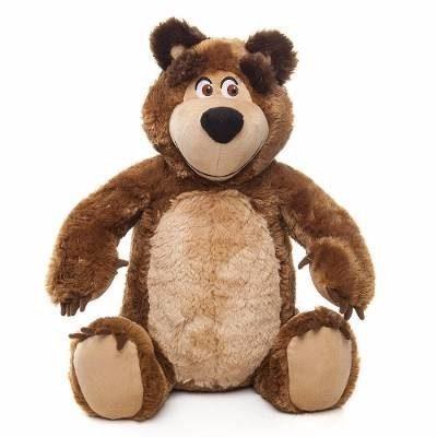 Pelucia Urso da Masha 40cm – Masha e o Urso   - Estrela  - Doce Diversão
