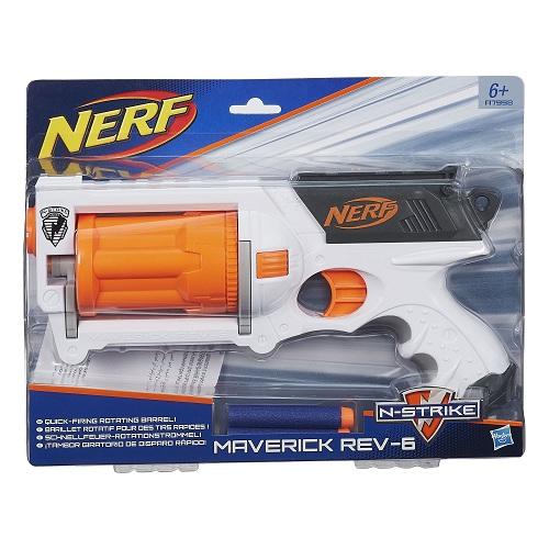 Lançador Nerf N Strike Maverick Rev- 6  Tambor Giratorio - hasbro  - Doce Diversão