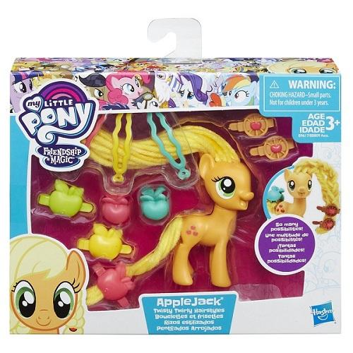 My Little Pony  Penteados de Gala Applejack - Hasbro  - Doce Diversão