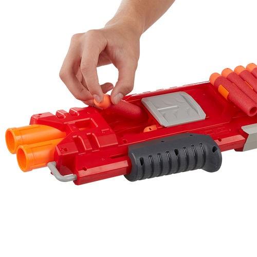 Nerf Strike Mega Doublebreach -  com tubo dulpo - Hasbro  - Doce Diversão