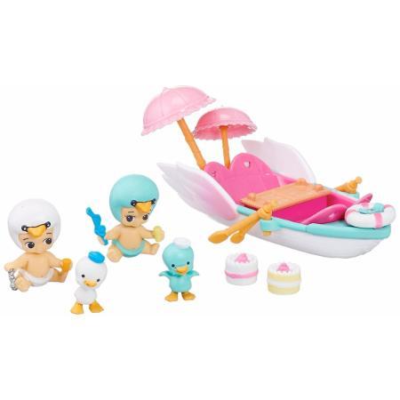 Twozies Barquinho Pequinique - 2 Bebês + 2 Pets - Dtc  - Doce Diversão