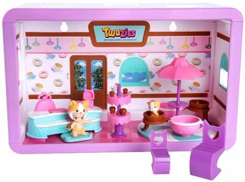 Twozies Café Divertido Luxo- 1 Bebês + 1 Pets - Dtc  - Doce Diversão