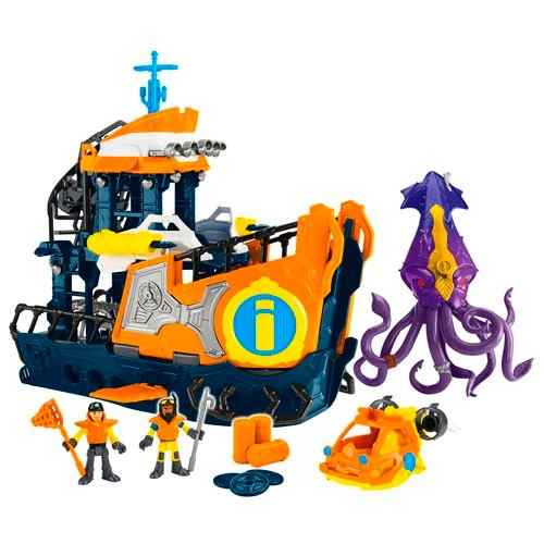 Imaginext  Navio Comando Do Mar – Fisher Price/Mattel - Doce Diversão