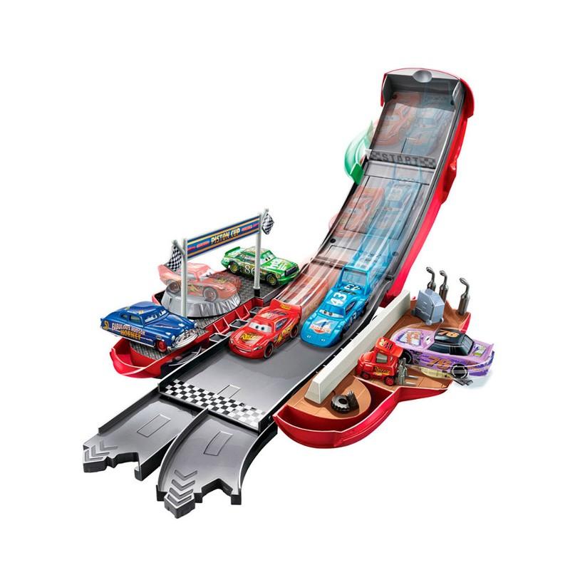 Carro e Pista - Relâmpago McQueen Transformável - Disney Carros - Mattel  - Doce Diversão