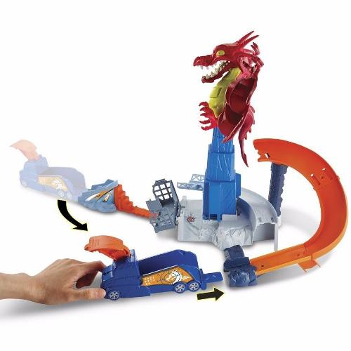 Pista Hot Wheels – Conjunto Fúria do Dragão - Mattel  - Doce Diversão