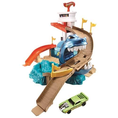 Pista Hot Wheels - Ataque do Tubarão Color Change - Mattel  - Doce Diversão