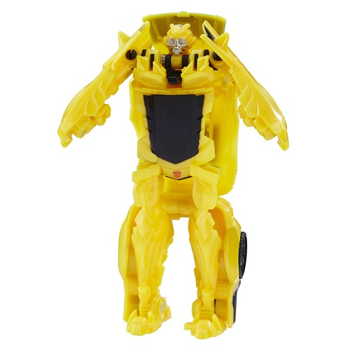 Transformers Filme 5 TurboChanger Bumblebee  10 cm  1 passo - Hasbro  - Doce Diversão