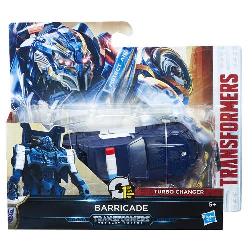 Transformers Filme 5 TurboChanger Barricade 10 cm  1 passo - Hasbro  - Doce Diversão