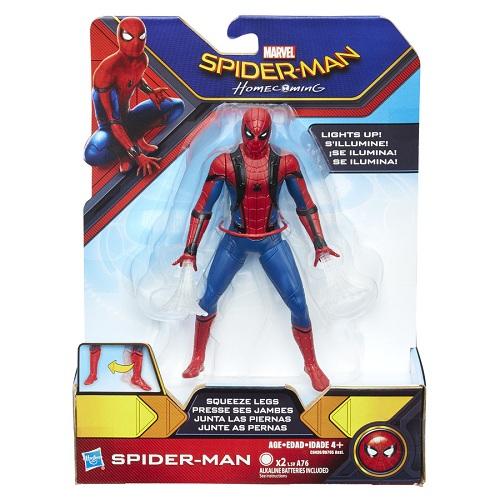 Boneco C luz Homem Aranha -  Filme Spiderman De Volta ao Lar 15cm - Hasbro  - Doce Diversão