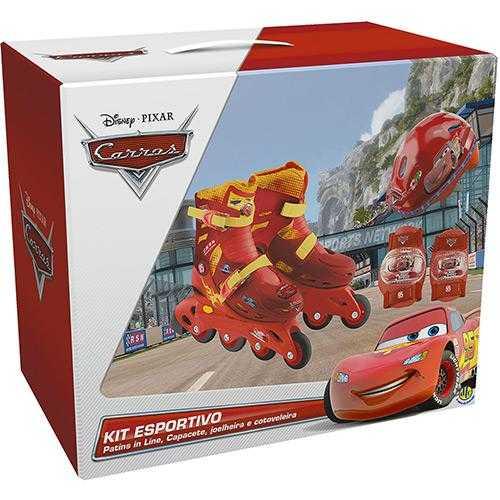 Kit Patins Completo Carros da Disney Tamanho 33 Ao 36 - DTC  - Doce Diversão