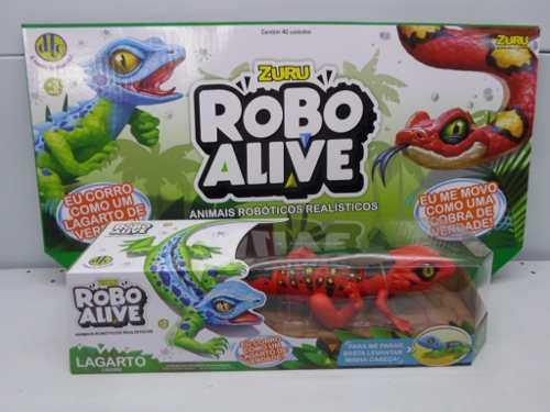 Robô Alive Lagarto Vermelho  Zuru  Animais Robóticos DTC  - Doce Diversão