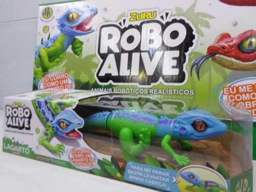 Robô Alive Lagarto Verde  Zuru  Animais Robóticos DTC  - Doce Diversão