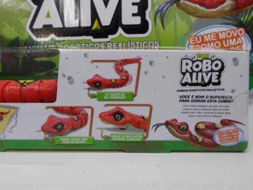 Robô Alive Cobra Vermelha  Zuru  Animais Robóticos DTC  - Doce Diversão