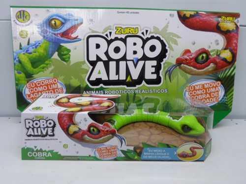 Robô Alive Cobra Verde  Zuru  Animais Robóticos DTC  - Doce Diversão