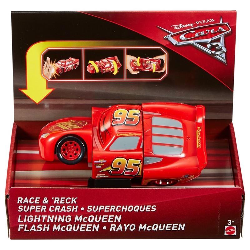 Carros 3 Disney Bate e Vira  - Relâmpago McQueen 15cm  - Mattel  - Doce Diversão