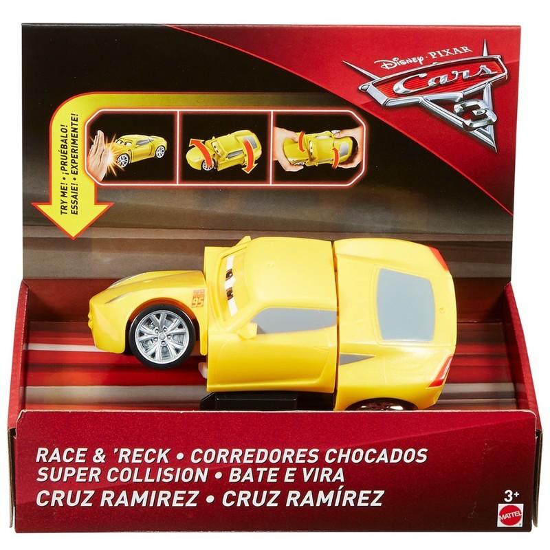Carros 3 Disney Bate e Vira  - Cruz Ramírez 15cm  - Mattel  - Doce Diversão