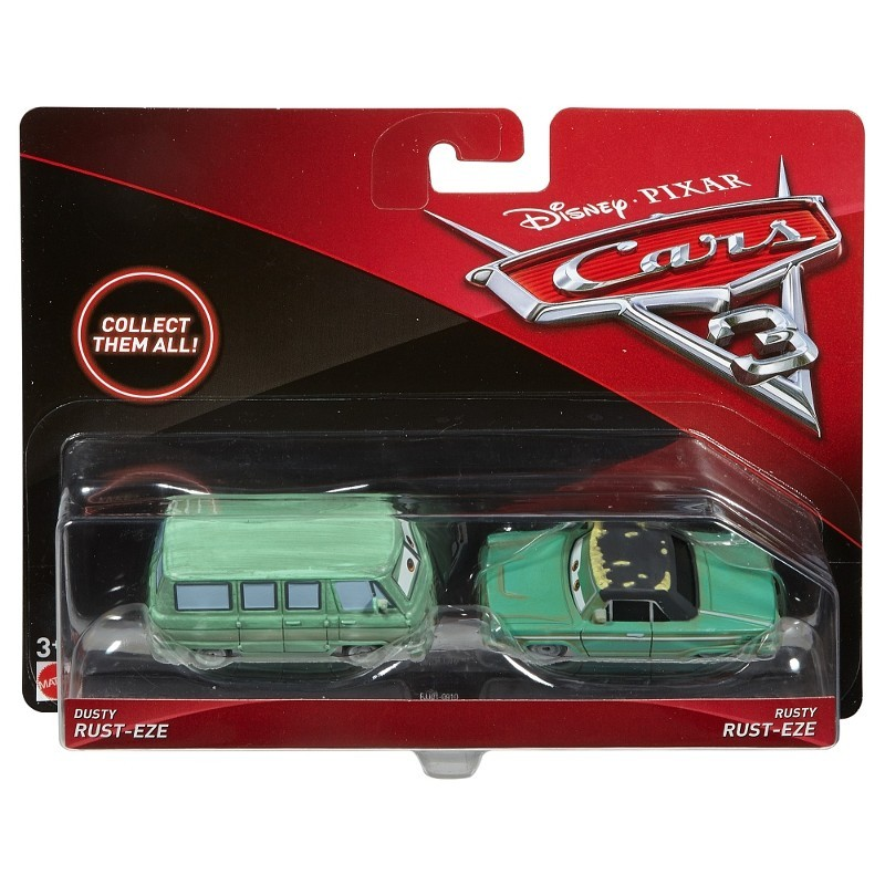 Carros 3 Disney - Die Cast  Pack C 2 Veículos - Rusty e Dusty  – Mattel  - Doce Diversão