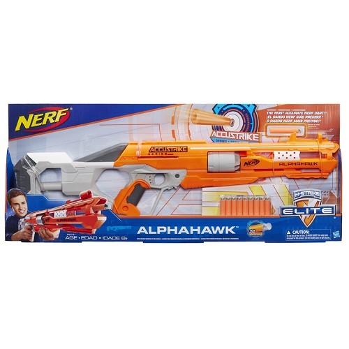 Nerf  Accustrike Alphahawk  – Tambor giratório + Dardo Precisão - Hasbro  - Doce Diversão
