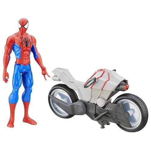Spiderman Ultimate Sinister6  Moto + boneco 30cm  - Hasbro  - Doce Diversão