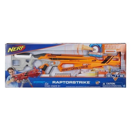 Nerf Accustrike  Raptorstrike  Precisão C/ 18 dardos  e Bipé - Hasbro  - Doce Diversão