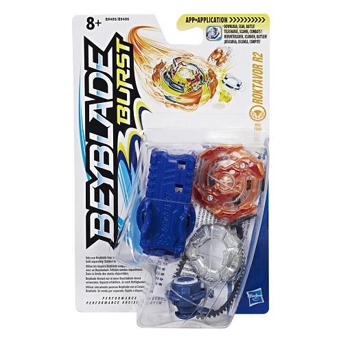 Bey Blade Burst Pião Com Lançador Ataque Roktavor R2 - Hasbro  - Doce Diversão