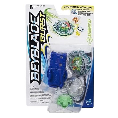 Bey Blade Burst Pião Com Lançador Ataque Kerbeus K2 - Hasbro  - Doce Diversão