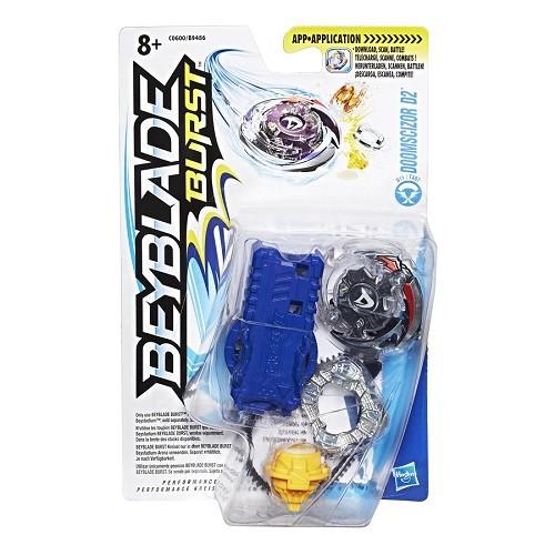 Bey Blade Burst Pião Com Lançador Ataque Doomscizor D2 - Hasbro  - Doce Diversão