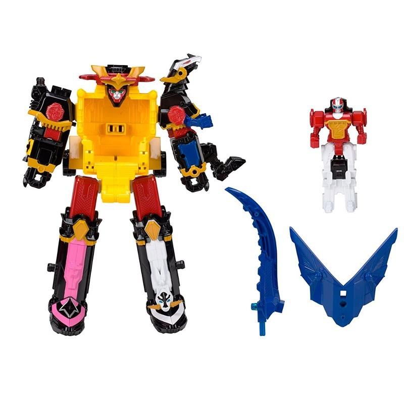 Power Rangers Ninja Steel - MegaZord DX Steel 30cm - 5 zords – Sunny  - Doce Diversão