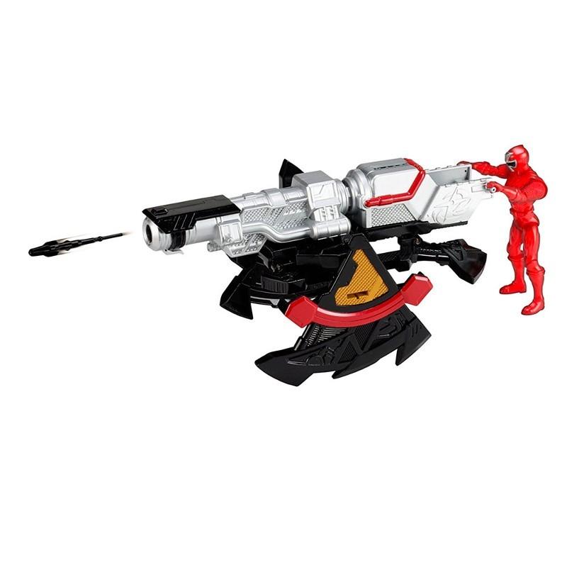 Power Rangers Ninja Steel lançador e morfador batalha + ranger Vermelho 10 cm - Sunny  - Doce Diversão