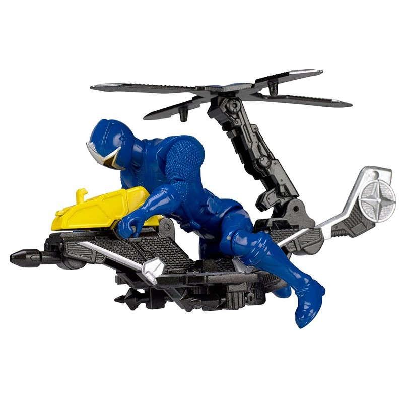 Power Rangers Ninja Steel Veiculo Morfador + ranger Azul 15 cm - Sunny  - Doce Diversão