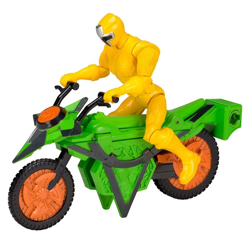 Power Rangers Ninja Steel Veiculo Morfador + ranger Amarelo 15 cm - Sunny  - Doce Diversão