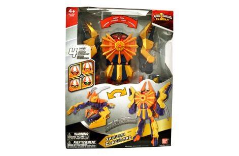 Boneco Power Rangers Samurai Megazord /clawzord 30cm - Sunny  - Doce Diversão