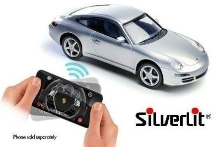 Porshe 911 Carrera R/c Bluetooth Silverlit / Dtc  - Doce Diversão