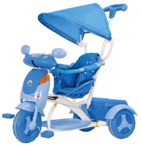 Triciclo Evolution Azul - com som - Frete Gratis - Cotiplás  - Doce Diversão