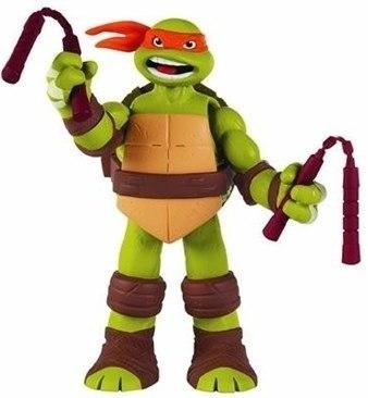 Boneco Tartaruga Ninja Com Som - Michelangelo  - Doce Diversão