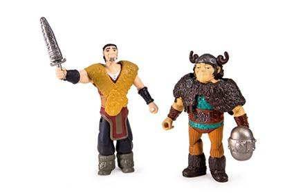 Figuras Viking Como Treinar Seu Dragão 2 - Eret E Melequento  - Doce Diversão