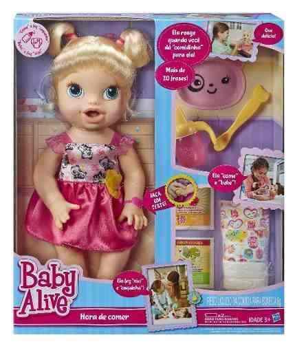 Boneca Baby Alive - Hora De Comer Loira - Hasbro  - Doce Diversão