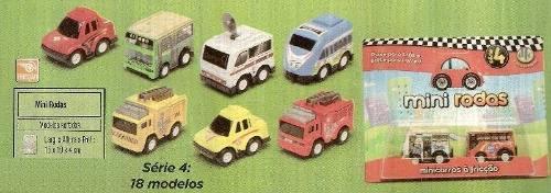 Coleção Carrinhos - Mini Rodas - Caixa C/ 12 Cartelas - Dtc  - Doce Diversão