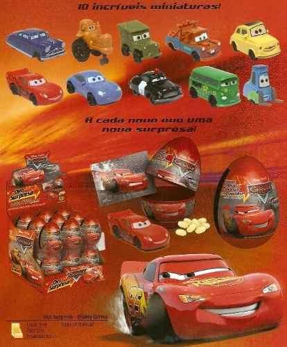 Ovo Surpresa Carros Disney C/ 18 Unidades  - Doce Diversão