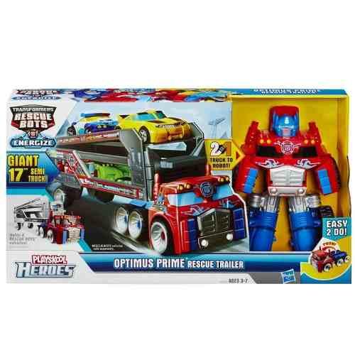 Transformers Rescue Bots - Optimus Prime Trailer - Hasbro  - Doce Diversão