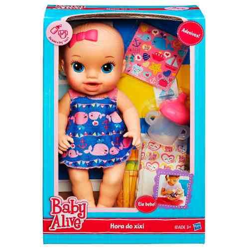 Boneca Baby Alive Hora Do Xixi Loira  - Hasbro  - Doce Diversão