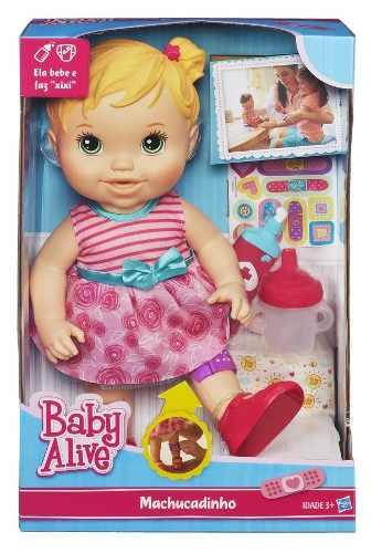 Boneca Baby Alive Machucadinho Loira - Hasbro  - Doce Diversão