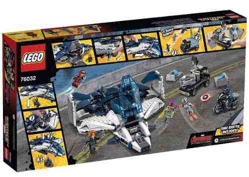 Lego 76032  - Perseguição dos Vingadores na cidade com Quinjet  - Doce Diversão