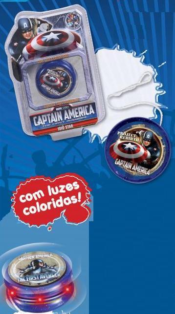 Ioiô Star Capitão América - Cartela  - Doce Diversão