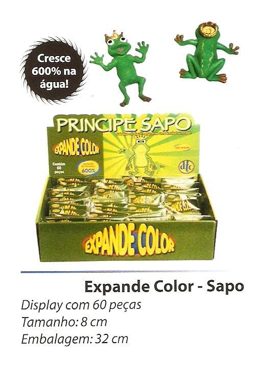 Expande Color Sapos  - Com 6 Unidade  - Doce Diversão