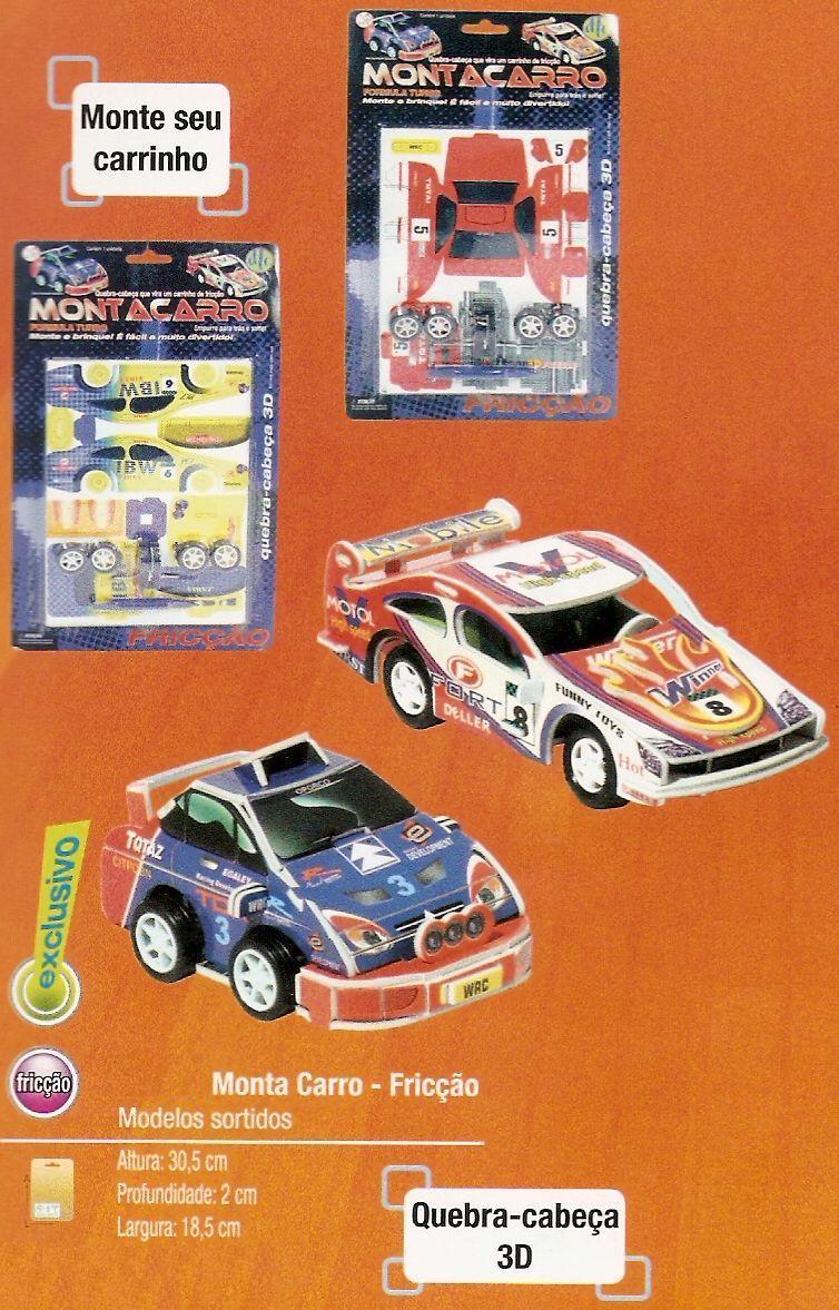 Monta Carro Formula Turbo -  Fricção Cartela  - Doce Diversão